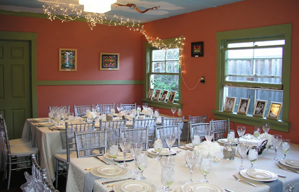 The Windmill Dining setup for a wedding